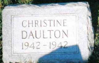 DAULTON, CHRISTINE - Scioto County, Ohio | CHRISTINE DAULTON - Ohio Gravestone Photos
