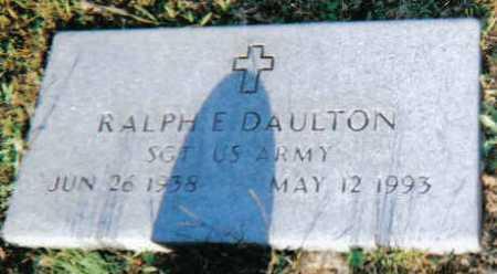 DAULTON, RALPH E. - Scioto County, Ohio | RALPH E. DAULTON - Ohio Gravestone Photos