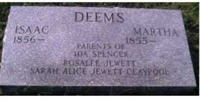 DEEMS, MARTHA - Scioto County, Ohio | MARTHA DEEMS - Ohio Gravestone Photos