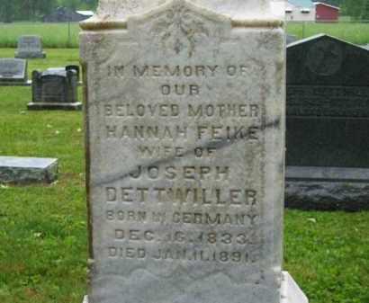 DETTWILLER, HANNAH - Scioto County, Ohio | HANNAH DETTWILLER - Ohio Gravestone Photos