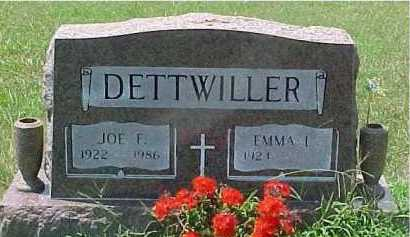 DETTWILLER, JOE F. - Scioto County, Ohio | JOE F. DETTWILLER - Ohio Gravestone Photos