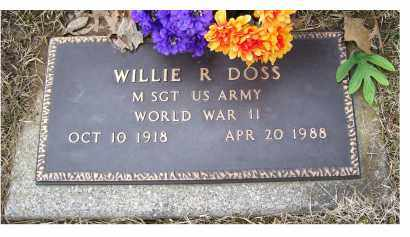 DOSS, WILLIE R. - Scioto County, Ohio | WILLIE R. DOSS - Ohio Gravestone Photos
