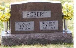 ROBINSON EGBERT, MATILDA M. - Scioto County, Ohio | MATILDA M. ROBINSON EGBERT - Ohio Gravestone Photos