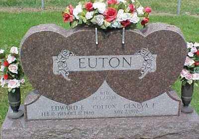 EUTON, EDWARD E. - Scioto County, Ohio | EDWARD E. EUTON - Ohio Gravestone Photos