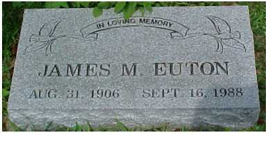 EUTON, JAMES M. - Scioto County, Ohio | JAMES M. EUTON - Ohio Gravestone Photos