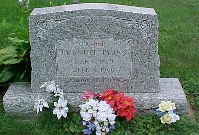 EVANS, EMANUEL - Scioto County, Ohio | EMANUEL EVANS - Ohio Gravestone Photos