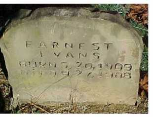 EVANS, EARNEST - Scioto County, Ohio | EARNEST EVANS - Ohio Gravestone Photos