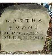 EVANS, MARTHA - Scioto County, Ohio | MARTHA EVANS - Ohio Gravestone Photos