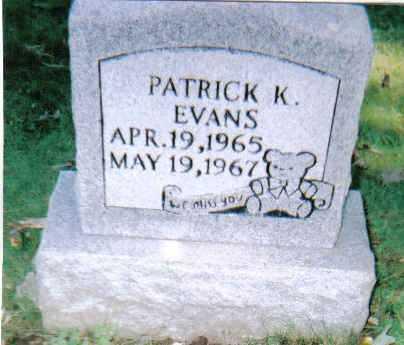 EVANS, PATRICK K. - Scioto County, Ohio | PATRICK K. EVANS - Ohio Gravestone Photos