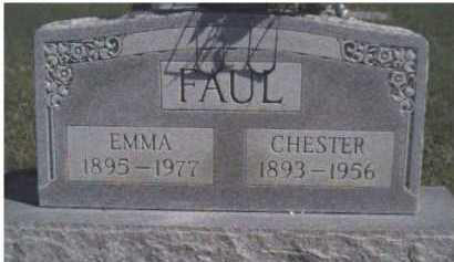 FAUL, CHESTER - Scioto County, Ohio | CHESTER FAUL - Ohio Gravestone Photos