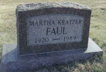 KRATZER FAUL, MARTHA - Scioto County, Ohio | MARTHA KRATZER FAUL - Ohio Gravestone Photos