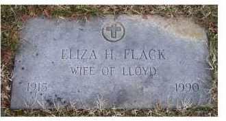 FLACK, ELIZA H. - Scioto County, Ohio | ELIZA H. FLACK - Ohio Gravestone Photos