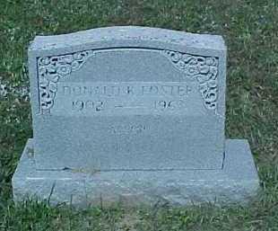 FOSTER, DONALD K. - Scioto County, Ohio | DONALD K. FOSTER - Ohio Gravestone Photos