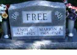 FREE, ENOLA - Scioto County, Ohio | ENOLA FREE - Ohio Gravestone Photos
