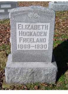 HOCKADEN FREELAND, ELIZABETH - Scioto County, Ohio | ELIZABETH HOCKADEN FREELAND - Ohio Gravestone Photos