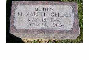 GERDES, ELIZABETH - Scioto County, Ohio | ELIZABETH GERDES - Ohio Gravestone Photos