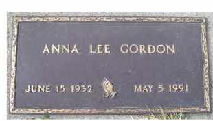 GORDON, ANNA LEE - Scioto County, Ohio | ANNA LEE GORDON - Ohio Gravestone Photos