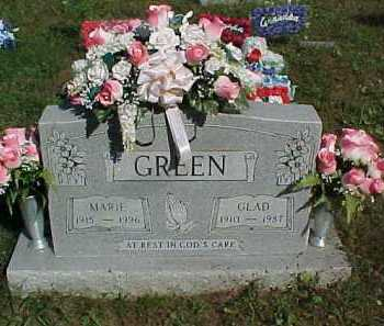 GREEN, GLAD - Scioto County, Ohio | GLAD GREEN - Ohio Gravestone Photos