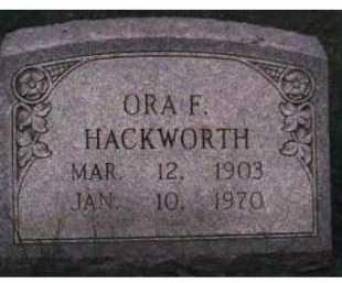 HACKWORTH, ORA F. - Scioto County, Ohio | ORA F. HACKWORTH - Ohio Gravestone Photos