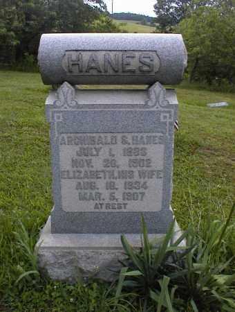 HANES, ELIZABETH - Scioto County, Ohio | ELIZABETH HANES - Ohio Gravestone Photos
