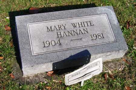 WHITE HANNAN, MARY - Scioto County, Ohio | MARY WHITE HANNAN - Ohio Gravestone Photos