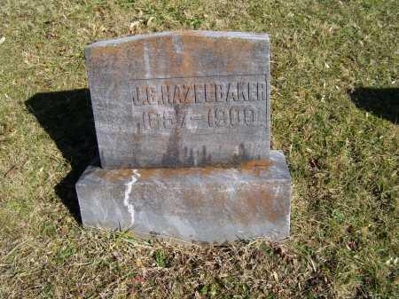 HAZELBAKER, J. G. - Scioto County, Ohio | J. G. HAZELBAKER - Ohio Gravestone Photos