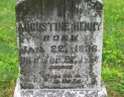 HENRY, AUGUSTINE - Scioto County, Ohio | AUGUSTINE HENRY - Ohio Gravestone Photos