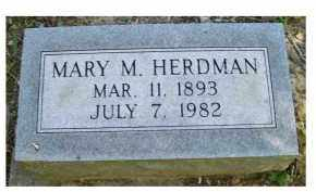 HERDMAN, MARY M. - Scioto County, Ohio | MARY M. HERDMAN - Ohio Gravestone Photos