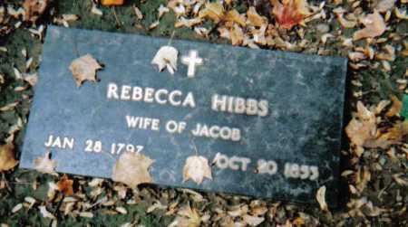 HIBBS, REBECCA - Scioto County, Ohio | REBECCA HIBBS - Ohio Gravestone Photos