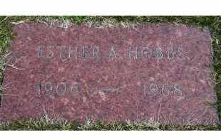 HOBBS, ESTHER A. - Scioto County, Ohio | ESTHER A. HOBBS - Ohio Gravestone Photos