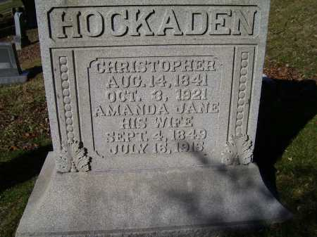 HOCKADEN, AMANDA JANE - Scioto County, Ohio | AMANDA JANE HOCKADEN - Ohio Gravestone Photos