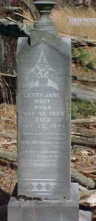 HOLT, SETTY JANE - Scioto County, Ohio | SETTY JANE HOLT - Ohio Gravestone Photos