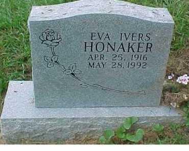 IVERS HONAKER, EVA - Scioto County, Ohio | EVA IVERS HONAKER - Ohio Gravestone Photos