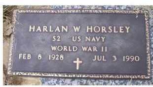 HORSLEY, HARLAN W. - Scioto County, Ohio | HARLAN W. HORSLEY - Ohio Gravestone Photos