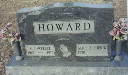 HOWARD, ALICE J. - Scioto County, Ohio | ALICE J. HOWARD - Ohio Gravestone Photos