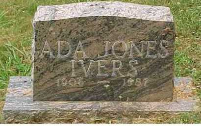 JONES IVERS, ADA - Scioto County, Ohio | ADA JONES IVERS - Ohio Gravestone Photos