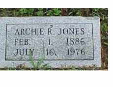 JONES, ARCHIE R. - Scioto County, Ohio | ARCHIE R. JONES - Ohio Gravestone Photos