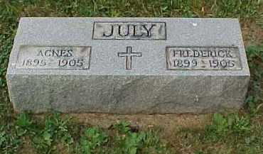 JULY, FREDERICK - Scioto County, Ohio | FREDERICK JULY - Ohio Gravestone Photos