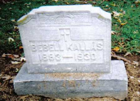KALLAS, BEBELL - Scioto County, Ohio | BEBELL KALLAS - Ohio Gravestone Photos