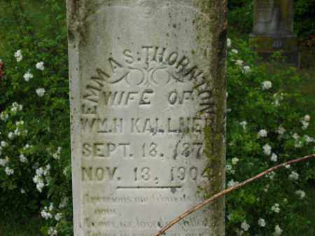 THORNTON KALLNER, EMMA S. - Scioto County, Ohio | EMMA S. THORNTON KALLNER - Ohio Gravestone Photos