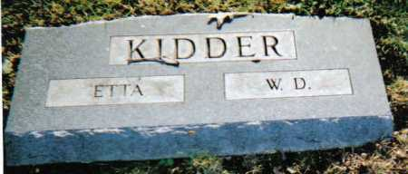 KIDDER, W.D. - Scioto County, Ohio | W.D. KIDDER - Ohio Gravestone Photos