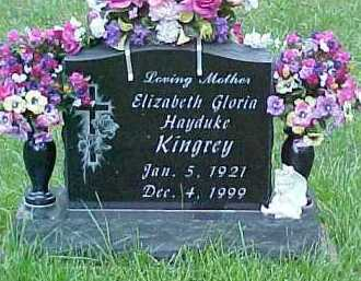 HAYDUKE KINGREY, ELIZABETH GLORIA - Scioto County, Ohio | ELIZABETH GLORIA HAYDUKE KINGREY - Ohio Gravestone Photos