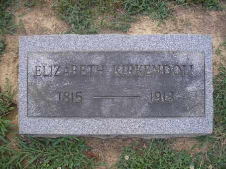 KIRKENDOLL (KIRKENDALL), ELIZABETH - Scioto County, Ohio | ELIZABETH KIRKENDOLL (KIRKENDALL) - Ohio Gravestone Photos