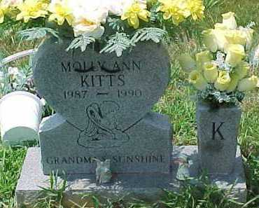 KITTS, MOLLY ANN - Scioto County, Ohio | MOLLY ANN KITTS - Ohio Gravestone Photos