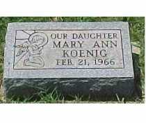 KOENIG, MARY ANN - Scioto County, Ohio | MARY ANN KOENIG - Ohio Gravestone Photos