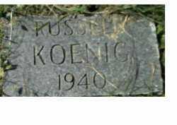 KOENIG, RUSSELL - Scioto County, Ohio | RUSSELL KOENIG - Ohio Gravestone Photos