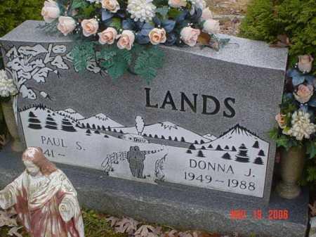 LANDS, DONNA J. - Scioto County, Ohio | DONNA J. LANDS - Ohio Gravestone Photos