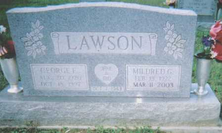 LAWSON, MILDRED G. - Scioto County, Ohio | MILDRED G. LAWSON - Ohio Gravestone Photos
