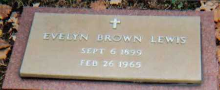 BROWN LEWIS, EVELYN - Scioto County, Ohio | EVELYN BROWN LEWIS - Ohio Gravestone Photos