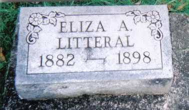 LITTERAL, ELIZA A. - Scioto County, Ohio | ELIZA A. LITTERAL - Ohio Gravestone Photos